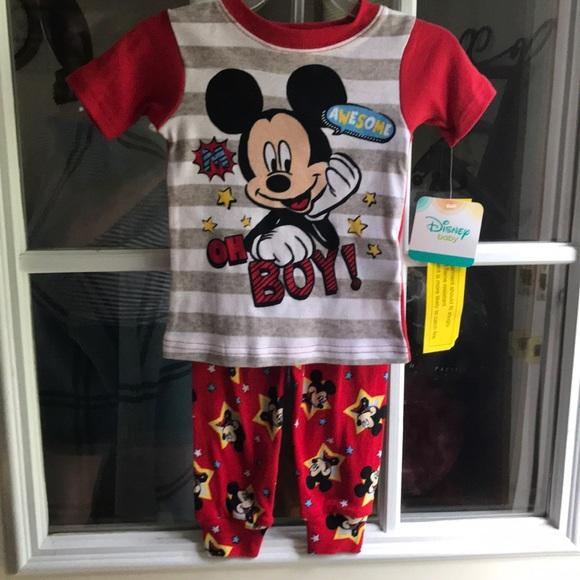 Size 24M ~ NWT Disney Toddler Mickey Mouse Halloween 2 Piece Pajama Set